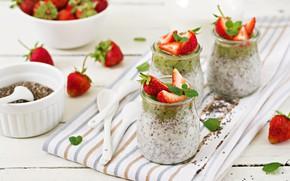 Picture Breakfast, strawberry, yogurt, Timolina