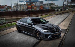 Picture the way, rails, BMW, port, sedan, Biturbo, BMW M5, Manhart, M5, V8, F90, 2019, 4.4 …
