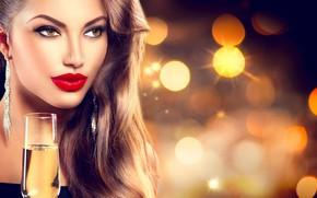 Picture girl, glass, makeup, decoration, model, Anna Subbotina