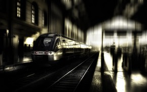 Picture the city, train, station