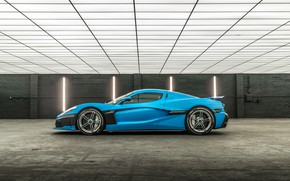 Picture supercar, side view, 2018, Rimac, electric car, C-Two, California Edition