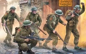 Picture Thompson, British Army, Lee-Enfield, Bren, Igor Varavin, British infantry
