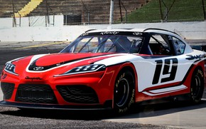 Picture racing car, Toyota, Supra, 2019, Xfinity