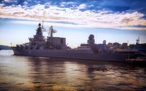 Picture cruiser, rocket, Vladivostok, the Vikings, the project 1164