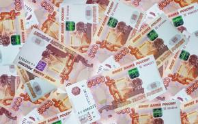 Picture money, bills, money, a lot of money, 5 thousand rubles