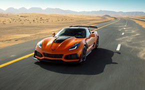 Picture orange, Corvette, Chevrolet, ZR1, 2019