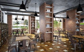 Picture design, style, interior, bar, restaurant, loft
