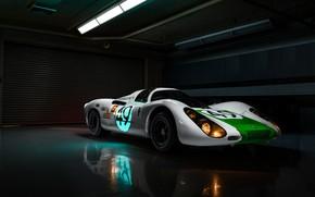 Picture lights, Porsche, racing car, Jeremy Cliff, Porsche 907, 907