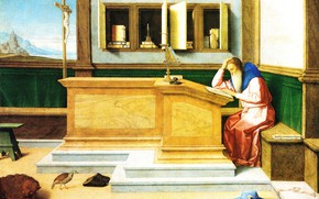 Picture picture, mythology, Vincenzo Catena, Vincenzo Catena, St. Jerome in the cell
