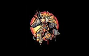 Picture Art, Egypt, Vector, Legend, Background, Illustration, Minimalism, Anubis, Angga Tantama, Myht