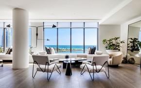 Picture interior, Miami, megapolis, living room