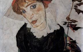 Picture Portrait, 1912, Egon Schiele, Valerie Neuzil