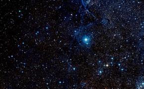 Picture Stars, Nebula, Wide Field View, Digitized Sky Survey 2, Filaments of the Vela Supernova Remnant, …
