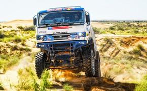 Picture Sand, Auto, Sport, Machine, Speed, Truck, Race, Master, Lights, Russia, Cabin, Kamaz, Rally, KAMAZ-master, Rally, …
