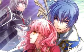 Picture three, art, pink hair, wand of fortune, lulu, visual novel, kagerou usuba, julius fortner, wand …