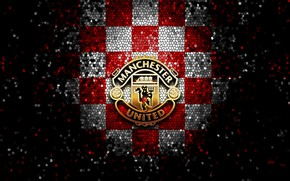 Picture wallpaper, sport, logo, football, Manchester United, glitter, checkered