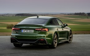 Picture Audi, green, ass, RS 5, 2020, RS5 Sportback