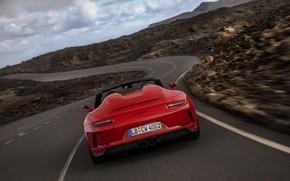 Picture red, 911, Porsche, Speedster, 991, feed, hump, 2019, 991.2