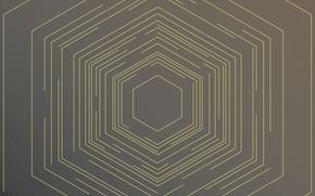 Picture line, pattern, texture, hexagon