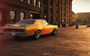 Picture Auto, Retro, Machine, Cougar, 1970, Rendering, Mercury, Mercury Cougar, by Mikhail Nikolaev, Mikhail Nikolaev, Mercury …