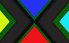 Picture color, background, triangles, layers