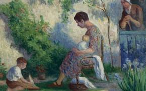 Picture picture, 1927, genre, Maximilien Luce, Maximilien Luce, Wilbois. Madame. Jean and Madeleine