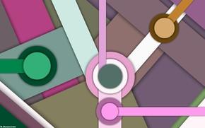 Picture circles, figure, asymmetry