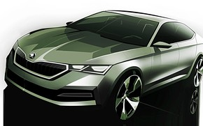 Picture figure, sketch, sedan, the sketch, Skoda, Skoda, Octavia, 2020