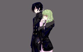 Picture girl, pair, guy, Code Geass, Lilus