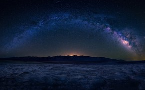 Picture stars, valley, The Milky Way, stars, valley, milky way, Michael Zheng
