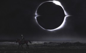 Picture Horse, The moon, Star, Horse, Eclipse, Eclipse, Fiction, Concept Art, Dark, Traveler, Hani Jamal, by …