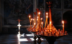 Picture FIRE, RELIGION, FAITH, CROSS, The CRUCIFIXION, CHURCH, CANDLES