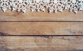 Picture winter, snowflakes, tree, Board, New Year, new year, wood, winter, background, snowflakes, decoration