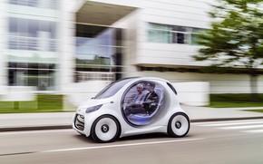 Picture car, Smart, concept car, Hybrid, smart Kar, smart eq vision