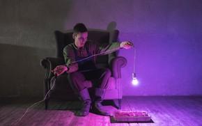 Picture light bulb, sofa, Anton MC, Anton Kuznetsov