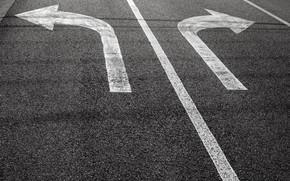 Picture road, asphalt, markup