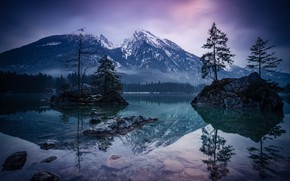 Picture Reflection, Mountains, Lake