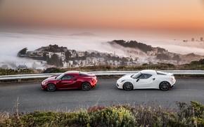 Picture pair, Alfa Romeo 4C, 2017