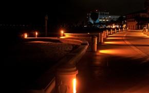 "Picture night, the city, street, lighting, promenade, ""черепахи"""
