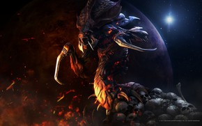 Picture victory, monster, mouth, starcraft, zerg, Zerg, strategy, remastered