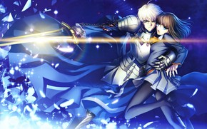 Picture girl, sword, guy, knight, the saber, Fate stay night, Fate / Stay Night