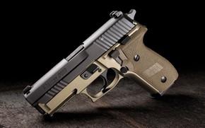 Wallpaper gun, weapons, background, beige