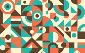 Picture abstraction, retro, background