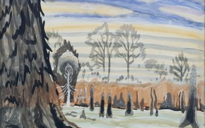 Picture March 4, 1917, Charles Ephraim Burchfield, Spring Sunset in the Woods