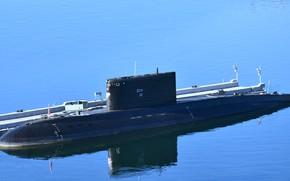 Picture submarine, diesel, Kolpino