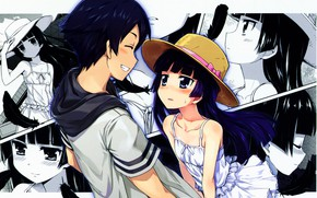 Picture girl, collage, guy, Oreimo, My little sister can't be this cute