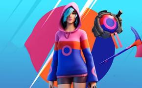 Picture girl, style, Fortnite, bright color