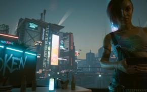 Picture Cyberpunk 2077, Night city 2077, Джуди Альварес