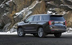 Picture rock, GMC, SUV, Denali, on the road, Yukon, 2020