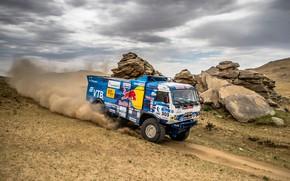 Picture Auto, Dust, Sport, Desert, Machine, Speed, Truck, Race, Master, Russia, Race, Russia, Kamaz, Rally, KAMAZ-master, …